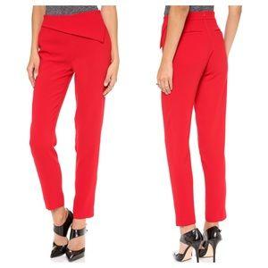 Nicholas Tailored Straight Leg Red Trouser